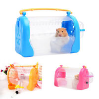 Hamster Cage Pet Carrier Travel Shoulder Strap Nest Mice Small Animals Supply