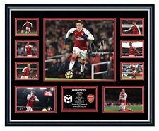 MESUT OZIL 2018 ARSENAL FC SIGNED PHOTO LIMITED EDITION FRAMED MEMORABILIA