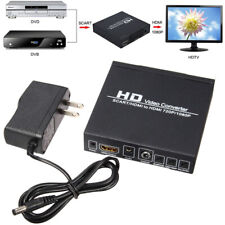 SCART / HDMI to HDMI 720P 1080P PC to TV Converter Adapter PAL/NTSC Video Scaler