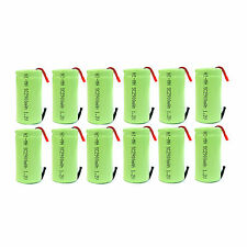 12 pcs Sub C 2900mAh Ni-MH 1.2V Rechargeable Battery w/ Tab Green US Stock