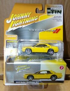 2010 Dodge Challenger R/T Detonator Yellow with Black Stripes Collector Tin