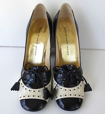 $512 Beautiful MARC by MARC JACOBS Spectator Patent Leather Pump 38.5 Navy/Cream
