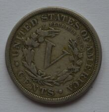 More details for 1889 usa 5 cents nickel coin