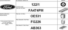 122/1 KIT 4 FILTRI TAGLIANDO FORD FOCUS 1.8 TDCI KW 85 CV 115 FINO AL 2004