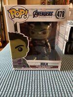 """Funko - POP Marvel: Avengers Endgame - 6"""" Hulk w/ Gauntlet 478 New Mint"""