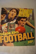 AFL-VFL  - Vintage 1984 - Scanlens - Sticker Album with Complete Set mounted.