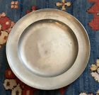 Antique 1874 Pewter Charger Plate by Gunzler 8 75 Inches Diameter