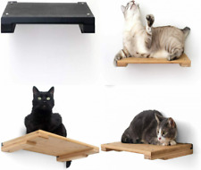 """New listing CatastrophiCreations 18"""" Cat Shelf Wall Mounted Elevated Climb, Onyx Bamboo"""
