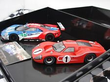 SCALEXTRIC LEGENDS 50 YEARS OF FORD AT LE MANS 2 CAR SET  C3893A 1.32 SLOT BNIB
