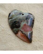 Ayaka Agate Heart Shape Stone Pendant Bead Gemstone Jewelry Making Supplies USA