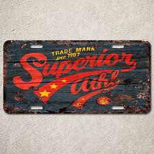 LP0152 Old Vintage Superion Sign Auto Car License Plate Home Gift Decor