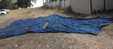 HUGE 5 SIDED 4m x 4m EXTRA HEAVY DUTY DARK BLUE EX-SHADE SAIL / SHADECLOTH -USED