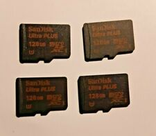 4x SanDisk 128GB Ultra Plus Micro SD card 80mb/s = 512gb authentic sandisk