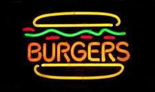 "New Burgers Hamburg Shop Open Bar Neon Light Sign 19""x15"""