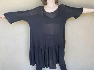 Dress To Kill tunic dress Jane Mohr One Size Black Asymmetric Fun