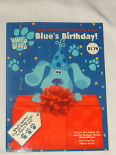 BLUE'S CLUES  SUPER COLORING & ACTIVITY BOOK , BLUES BIRTHDAY ,   FROM 1998,