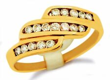 Women's 3 Row Excellent Cut G/SI2 Diamonds Matched Parcel Set in 14k Solid Gold