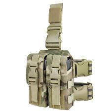Multicam Drop Leg 223 556 Tactical Shooter Mag Carrier 4 Mags Condor Ma65-008