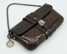 Lanvin Patent Leather Shoulder Hand Bag with Chain Link Strap