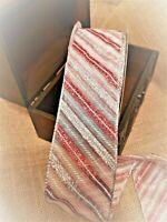 PEPPERMINT CANDY CANE glitter stripe Organza WIDE - Luxury Wire Edge Ribbon