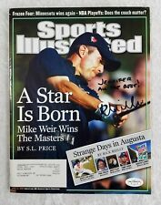 Mike Weir Autographed Signed Sports Illustrated 2003 Masters Champ JSA Certified