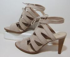 Simply Vera Wang Putty Strappy Lace up Heel Womens 10 Iman Beige