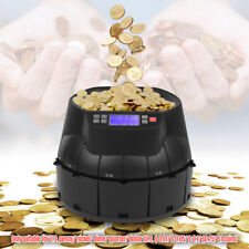 Electronic Coin Sorter Counter Roller Money Cash Counting Machine Self-Diagnosis