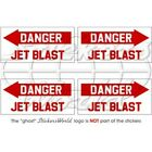 DANGER JET BLAST USAF Hélicoptère 50mm Stickers Autocollants x4