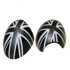 Pair Grey Union Jack England Side Mirror Covers Caps For MINI Cooper F56 F55