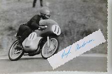 27091 courses motocyclistes Photo Autographe Hugh ANDERSON Nouvelle-Zélande 1962 SUZUKI Photo