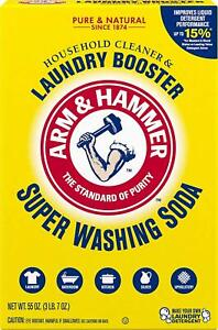 Arm and Hammer Super Washing Soda Detergent Booster and Household Cleaner, 55oz.