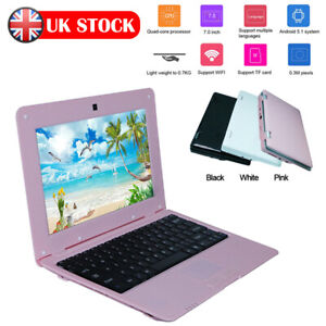 Kids 7'' Netbook Mini Laptop Wifi Android 5.1 1.5ghz Notebook Xmas Children Gift