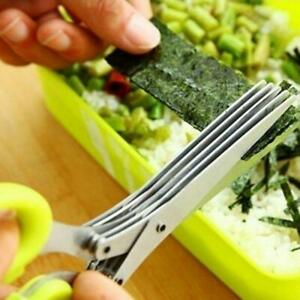 Multifunctional Muti Layers Stainless Steel Knives Multi-layers Kitchen Scissors
