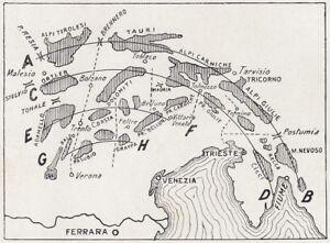 D9459 Italy - Sketch Arrangement Weights Montane Nord-Orientale - 1923 Map