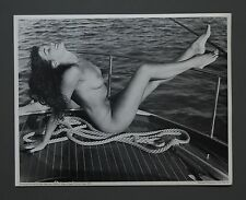 Betty Page Pin-Up Nude Rare 1954 Bunny Yeager Collection B&W Photo Print 28x36cm