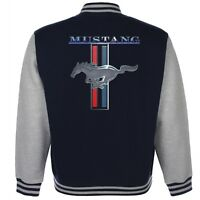 Ford Mustang Baseball Varsity Jacket American Classic Pony Vintage V8 Muscle Car