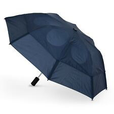 """Gustbuster Metro Dual Canopy Collapsible Windproof 43"""" Umbrella Navy Wind Proof"""