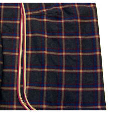 New Wool Day Sheet Plaid with Blue and Burgundy Accents - Large