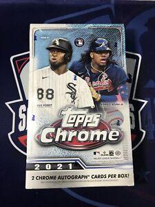 2021 Topps Chrome Baseball Factory Sealed Hobby Box Direct From Topps Fast Ship!