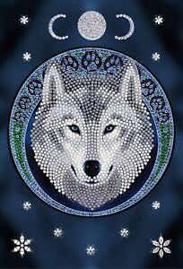 Craft Buddy Crystal Art Diamond Painting NOTEBOOK Lunar Wolf Anne Stokes - NEW