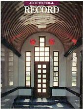 rivista - THE ARCHITECTURAL RECORD ANNO 1985 GIUGNO