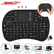 2,4GHz Wireless Funktastatur  Mini USB Tastatur Touchpad Maus QWERTZ TV Box PS3