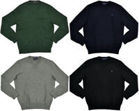 Maglione Polo Ralph Lauren Uomo Cotone Pima Collo a V Maglioncino Originale