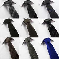 Men's Check Wool Tweed Brown Grey Brown Orange Check V Tip