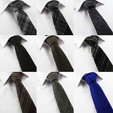 Men's Country Check Wool Tweed Brown Grey Green Orange Houndstooth Stripe V Tip