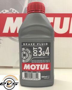 MOTUL DOT 3&4 Liquido Olio Freni Auto Moto 100% Sintetico Brake Fluid 500ml
