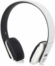 Bluetooth Headphones White On Ear Wireless Headset with Mic and  Bluetooth V4.1