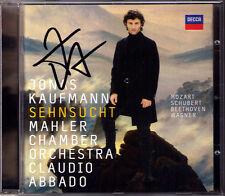 Jonas KAUFMANN Signiert SEHNSUCHT Beethoven Mozart Schubert Wagner ABBADO CD