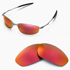 New Walleva Polarized Fire Red Lenses For Oakley Whisker