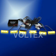 6 NEW 1W VOLTEX AMBER EMS TOW LED LIGHTBAR GRILL LIGHT BAR